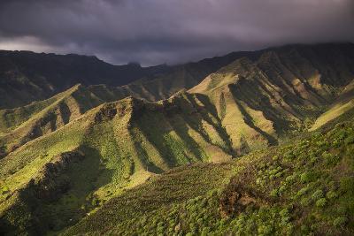 Spain, Canary Islands, La Gomera, Valle De Hermigua, Mountain Landscape, Dawn-Walter Bibikow-Photographic Print