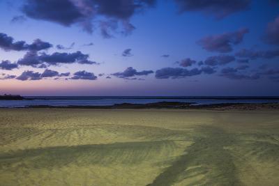 Spain, Canary Islands, Lanzarote, Arecife, Playa Del Reducto Beach, Dawn-Walter Bibikow-Photographic Print