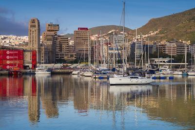 Spain, Canary Islands, Tenerife, Santa Cruz De Tenerife, City View from the Port, Morning-Walter Bibikow-Photographic Print