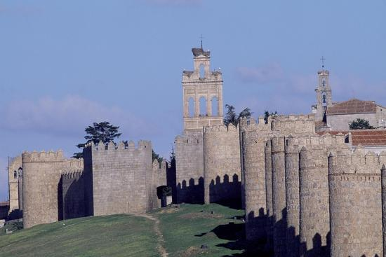 Spain, Castile and Leon, Avila, Medieval City Walls--Giclee Print