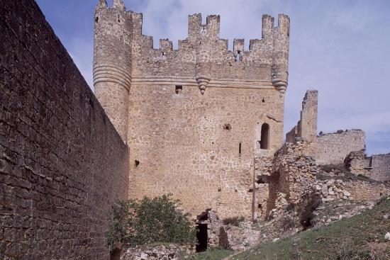 Spain, Castile and Leon, Ruins of Berlanga De Duero Castle--Giclee Print