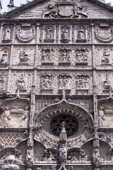 Spain, Castile and Leon, Valladolid, Convent of San Pablo, Facade Detail--Giclee Print