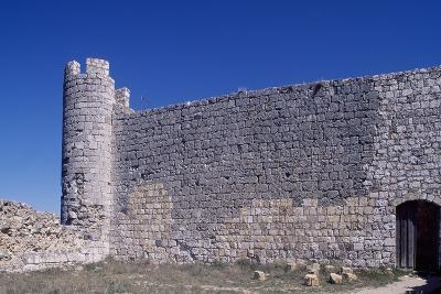Spain, Castile-La Mancha, Jadraque, Castle of Jadraque, Old Fortified Wall--Giclee Print
