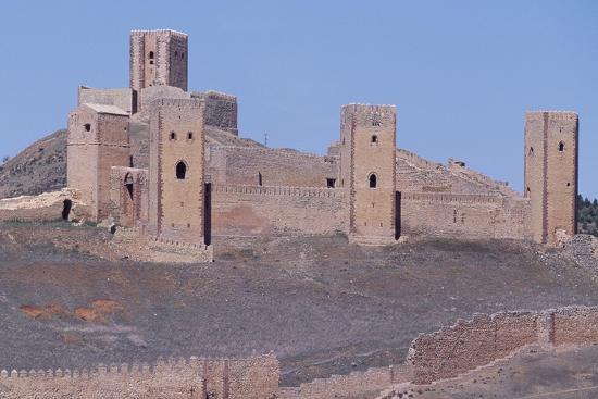 Spain, Castile-La Mancha, Molina De Aragon, Tower of Aragon and Castle of Molina De Aragon--Giclee Print