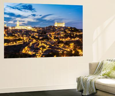Spain, Castile–La Mancha, Toledo. City with the Cathedral and the Alcazar at Dusk-Matteo Colombo-Wall Mural