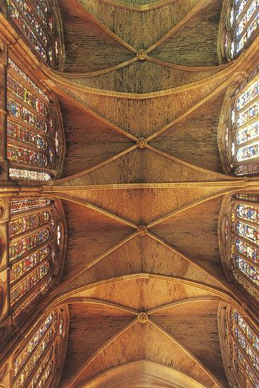 Spain, Castilla Y Leon, Leon Cathedral, Nave Ceiling--Giclee Print