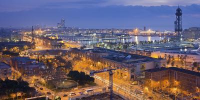 Spain, Catalonia, Barcelona, City View, Dusk-Rainer Mirau-Photographic Print