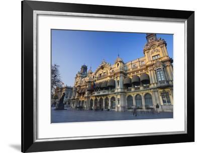 Spain, Catalonia, Barcelona, Harbour Building-Rainer Mirau-Framed Photographic Print