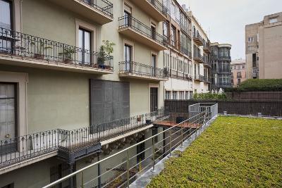 Spain, Catalonia, Barcelona, Residential House, Facade, Balconies-Rainer Mirau-Photographic Print