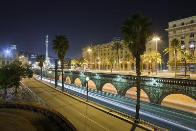 Spain, Catalonia, Barcelona, Ronda Del Litoral, Evening-Rainer Mirau-Photographic Print