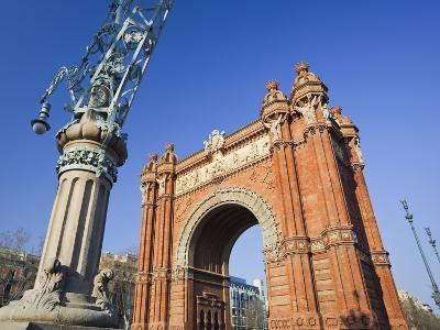 Spain, Catalonia, Barcelona, Triumphal Curve, Lantern-Rainer Mirau-Photographic Print