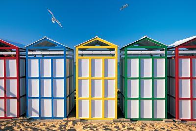 Spain, Costa Brava, Beach Huts-Peter Adams-Photographic Print