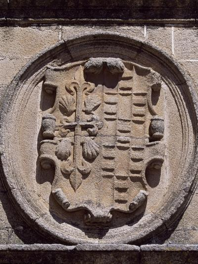 Spain, Extremadura, Caceres, Plaza De Santa Maria, Overdo Palace, Emblem of Ovando-Ulloa--Giclee Print
