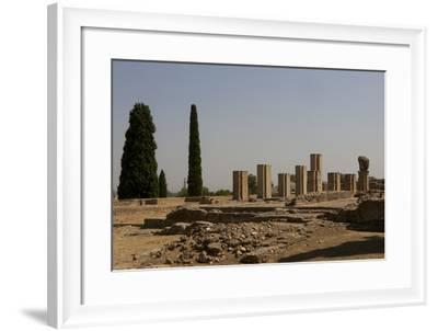 Spain. Italica. House of Exendra, Ruins, Domus Roman, 2nd Century--Framed Photographic Print