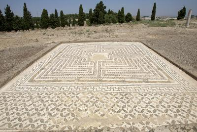 Spain, Italica, House of the Neptune, Labyrinth Mosaic, Domus Roman--Photographic Print