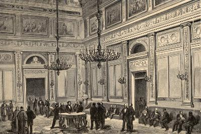 Spain, Madrid, Conference Hall of the Chamber of Deputies, 19th Century--Giclee Print