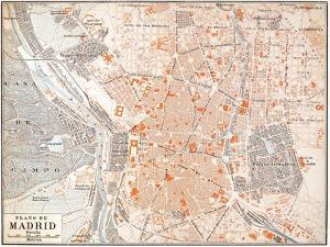Spain: Madrid Map, C1920