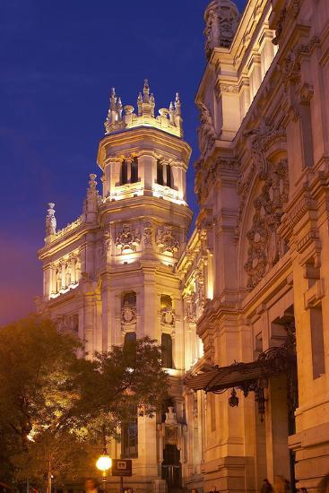Spain Madrid Palacio De Comunicaciones Plaza De Cibeles Evening Photographic Print By Chris Seba Art Com