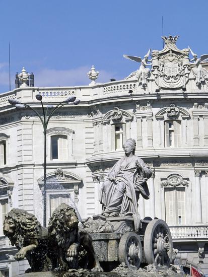 Spain, Madrid, Plaza De Cibeles, Fountain of Cybele, Detail, 1782--Giclee Print