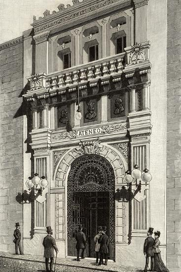 Spain, Madrid, Scientific, Literary and Artistic Ateneo, Engraving, 1892--Giclee Print