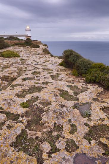 Spain, Majorca, Far De Cap Blanc, Lighthouse, Rock-Rainer Mirau-Photographic Print