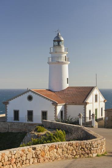Spain, Majorca, Far De Capdepera, Lighthouse, Stone Wall-Rainer Mirau-Photographic Print