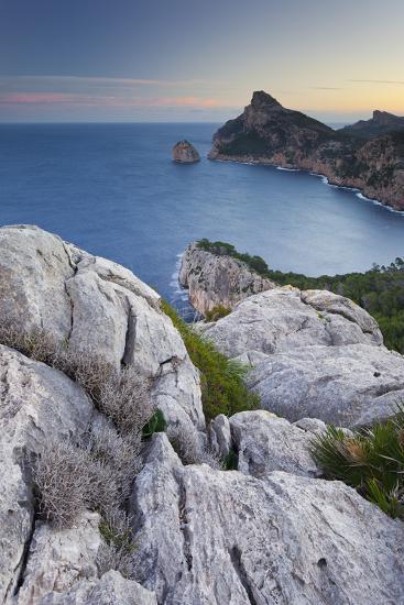 Spain, Majorca, Formentor Peninsula, Rock, the Mediterranean Sea-Rainer Mirau-Photographic Print