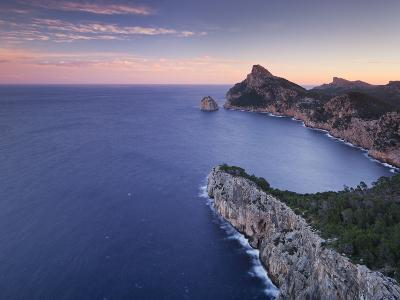 Spain, Mallorca, Formentor Peninsula, Rock, Mediterranean Sea-Rainer Mirau-Photographic Print
