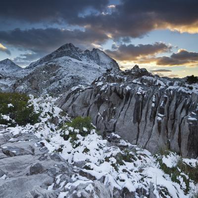 Spain, Mallorca, Serra De Tramuntana, Puig Major, Puig De Ses Vinyes, Col De Cals Reis, Rock, Snow-Rainer Mirau-Photographic Print