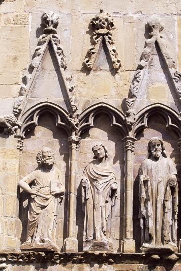 Spain, Navarre, Olite, Santa Maria La Real Church, Church Facade--Giclee Print