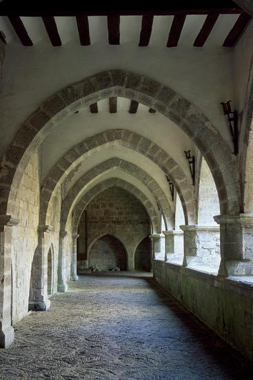 Spain, Navarre, Roncesvalles, Church of Santa Maria, Cloister Portico--Giclee Print