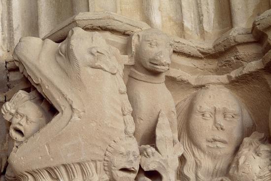 Spain, Navarre, Ujue, Church of Santa Maria, Decorated Capital--Giclee Print