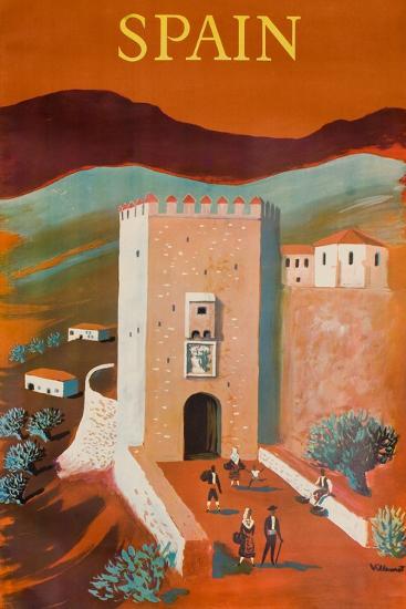 Spain Poster-Bernard Villemot-Giclee Print