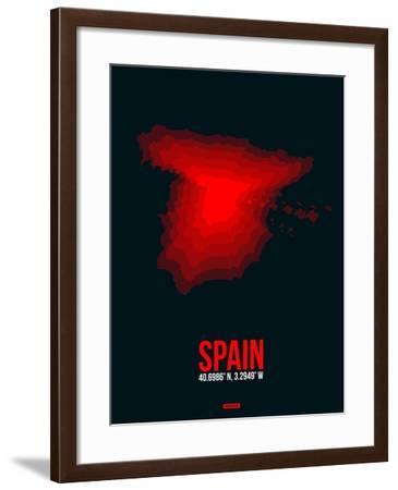 Spain Radiant Map 1-NaxArt-Framed Art Print