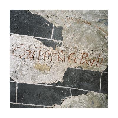 Spain, Royal Abbey of Saint Mary of Alaon, Inscription--Giclee Print