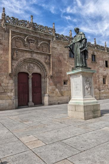 Spain, Salamanca, Frei Luis de Leon in Courtyard of the Clergy-Lisa S^ Engelbrecht-Photographic Print