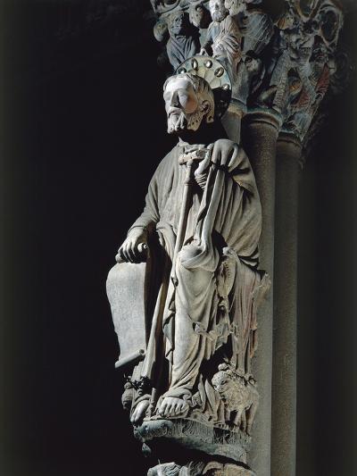 Spain, Santiago De Compostela, Figure of St James from Door of Glory in Cathedral--Giclee Print