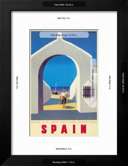 Spain Tourism C 1950s Art Print Guy