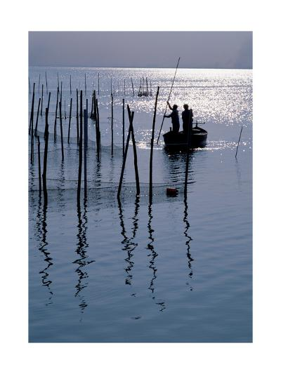 Spain. Valencia. Albufera Lake. Sunset--Giclee Print
