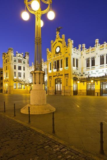 Spain, Valencia, Railway Station, Lantern-Rainer Mirau-Photographic Print