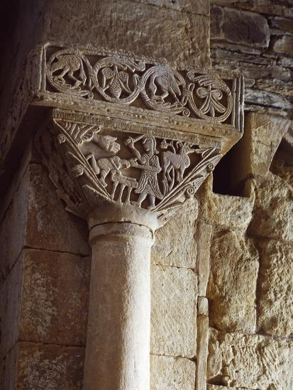 Spain, Zamora, Church of St Peter of Nave, Sacriface of Isaac, Detail of a Carved Capital--Giclee Print