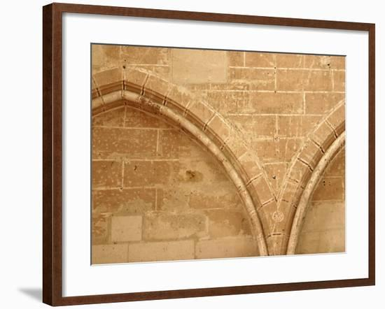Spandrel Between Blind Arches on Exterior of Building--Framed Photographic Print