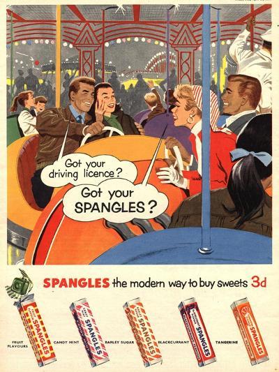 Spangles, Sweets, UK, 1950--Giclee Print