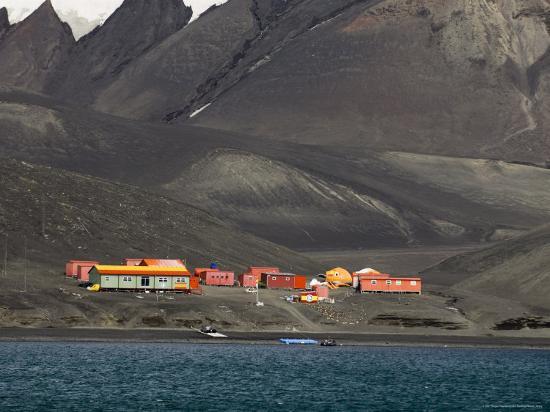 Spanish Base, Deception Island, South Shetland Islands, Antarctica, Polar Regions-Sergio Pitamitz-Photographic Print