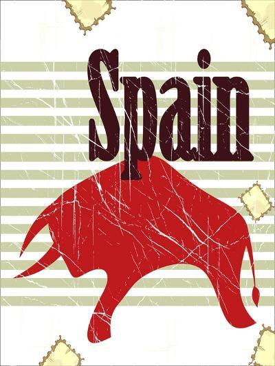 Spanish Bull On Grungy Background-elfivetrov-Art Print