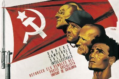 Spanish Civil War Poster for the Socialist Party of Catalonia-Josep Renau-Art Print