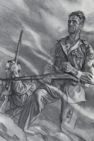 Spanish Civil War-Carlos Saenz de Tejada-Art Print