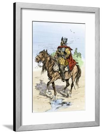 Spanish Conquistador in Armor on Horseback, New Spain, c.1500