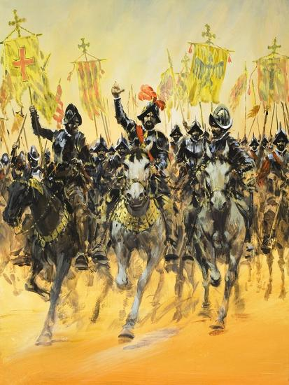 Spanish Conquistadors-Graham Coton-Giclee Print