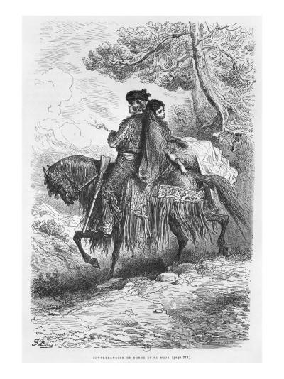 Spanish Contrabandista of Ronda and his Maja, engraved by Felix Jean Gauchard-Gustave Dor?-Giclee Print